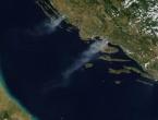 NASA: Požar na Mosoru i Vranskom jezeru vidi se iz svemira