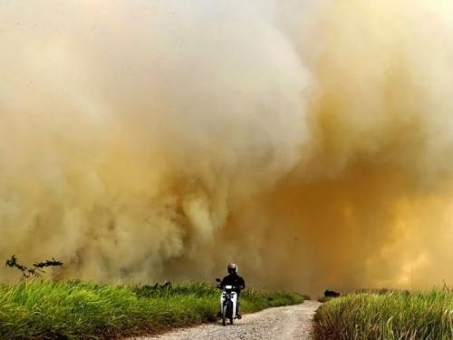 Tisuće ljudi u Indoneziji mole se za kišu nakon više od mjesec dana požara
