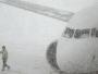 Snijeg prizemljio avione, fronta široka 2.500 kilometara!