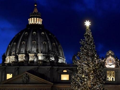 Božićno drvo i jaslice postavljeni u Vatikanu