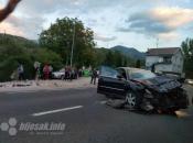 Osam ozlijeđenih u sudaru u Konjicu