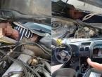 Migranti se nagurali pod haubu i kontrolnu ploču automobila