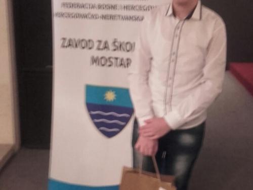 David Mađar pjesmom ''Hrvatski glas u vremenu'' osvojio treće mjesto na županijskom natjecanju