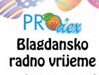 Prodex – radno vrijeme za blagdane