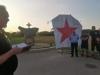 VIDEO| U Vinkovcima spaljena crvena zvijezda petokraka