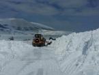 Zbog snijega i jakog vjetra zatvorena cesta Rakitno – Blidinje