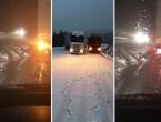 Snježni kaos na cestama kroz Hrvatsku