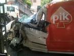 Jablanica: U sudaru dva kamiona i automobila ozlijeđena jedna osoba