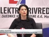 Marija Buntić: Elektroprivreda HZ HB u prvih pola godine ostvarila dobit od preko 19,5 milijuna KM