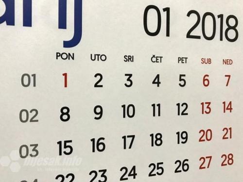 Neradni dani u FBiH 1. i 2. siječnja
