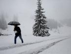 Narandžasto upozorenje zbog snijega i udara vjetra