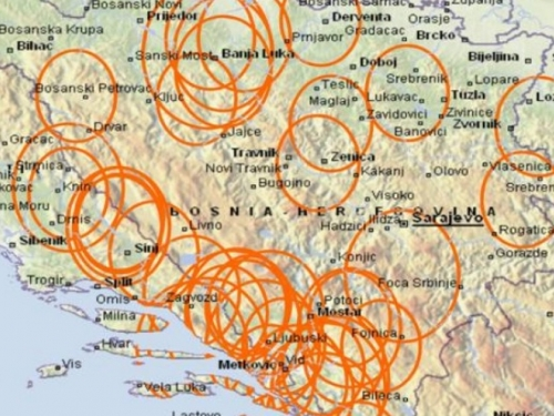 Pogledajte seizmotektonsku kartu BiH