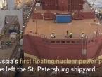 VIDEO: Rusija u more porinula plutajuću nuklearnu elektranu