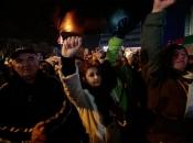 """Policija pred crkvom rastjerala prosvjednike iz skupine """"Pravda za Davida"""""""
