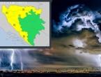 Žuti meteoalarm za četvrtak upaljen u BiH