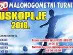 NAJAVA: 20. malonogometni turnir Uskoplje 2016.
