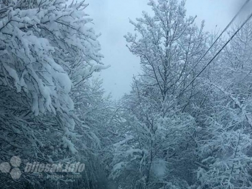 Snijeg će do kraja dana zamesti cijelu Bosnu