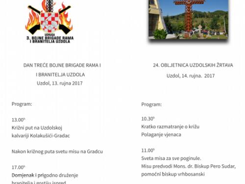 Najava i program obilježavanja Dana branitelja Uzdola i 24. obljetnice uzdolskih žrtava