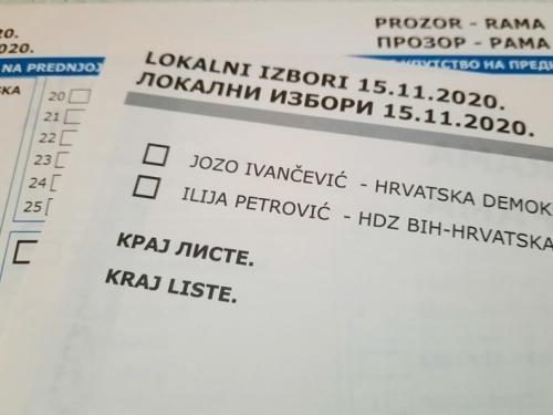 UŽIVO: Neslužbeni rezultati lokalnih izbora u općini Prozor-Rama