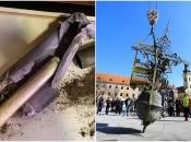 Nevjerojatno otkriće u Karlovcu: skidali križ sa zvonika i pronašli svitak iz 1794. godine