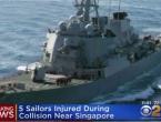 Američki razarač sudario se s tankerom, 10 mornara nestalo