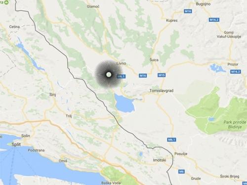 Potres jačine 3,5 stupnjeva po Richteru uzdrmao Hercegovinu i Dalmaciju