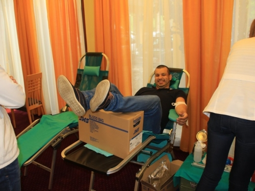 FOTO: U motelu HE Rama održana akcija dobrovoljnog darivanja krvi