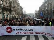 Masovni prosvjedi protiv ratifikacije Istanbulske konvencije