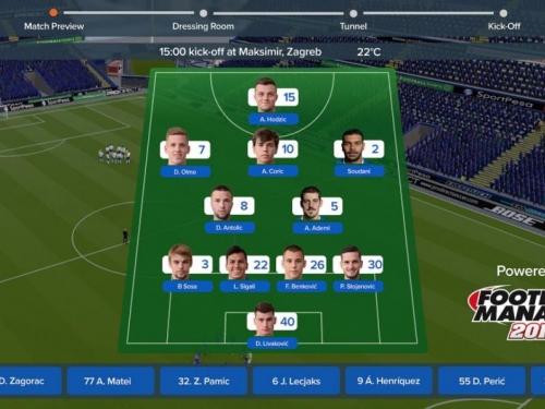 Dinamo jedini hrvatski klub u novom Football Manageru