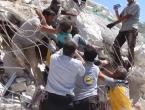 VIDEO: Spasioci izvlače djecu iz ruševina nakon ogromne eksplozije u Siriji