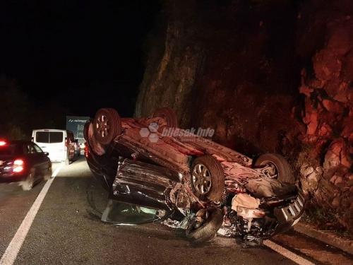 Više ozlijeđenih u teškoj prometnoj nesreći između Jablanice i Mostara