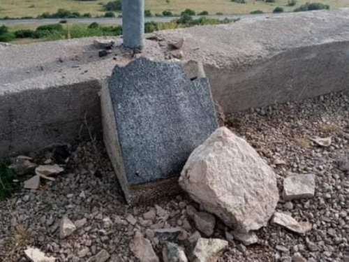 Uništena spomen ploča s imenima poginulih hrvatskih branitelja na Borovoj glavi