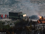 Oružane snage gasile požar na Čvrsnici