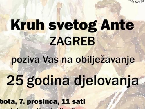 Kruh sv. Ante: Poziv na obilježavanje 25. obljetnice djelovanja