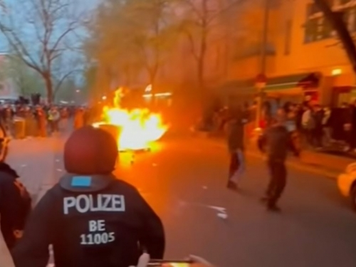 Žestoki sukobi policije i demonstranata u Njemačkoj