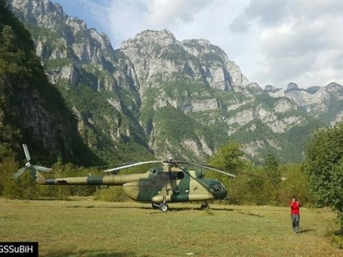 Teško ozlijeđeni češki planinar s Čvrsnice helikopterom prebačen u Mostar