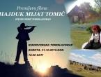 Poziv na premijeru filma 'Hajduk Mijat Tomić'