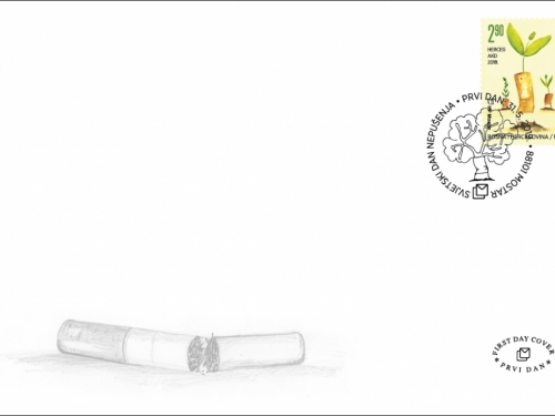 HP Mostar poštanskom markom upozorava na štetnost pušenja
