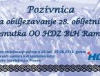 Javni poziv: Obljetnica OO HDZ BiH Rama