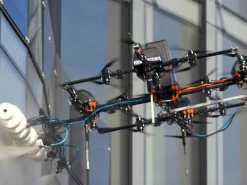 Proizveden dron za pranje prozora na visokim objektima