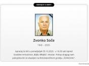 Preminuo poznati mostarski liječnik Zvonko Soče