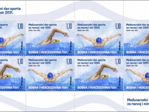 Prigodne marke HP Mostar uz Međunarodni dan sporta za razvoj i mir