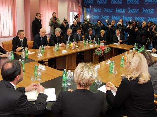 Mostar: Plenković na sastanku u HDZ-u