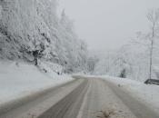 Snijeg i poledica na putevima u BiH, preko planinskih prijevoja odroni