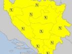 Žuti meteoalarm upaljen za područje cijele BiH