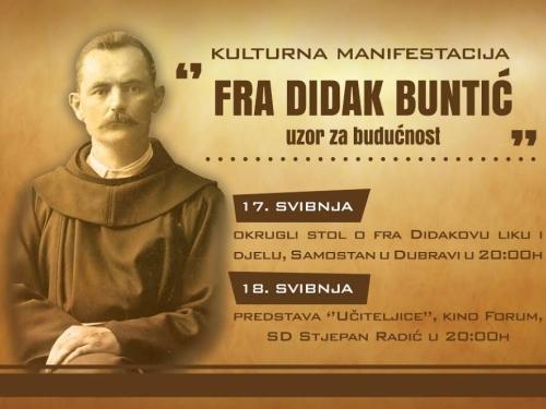 Frama Dubrava i hercegovački studenti u Zagrebu organiziraju kulturnu manifestaciju o fra Didaku