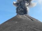 Prvi put vulkanska erupcija snimljena dronom