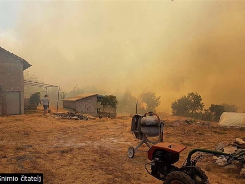 Požari u HNŽ-u ne jenjavaju: Jak vjetar nimalo ne pomaže