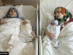 Majka i kćer se porodile istovremeno