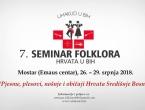 Počele prijave na seminar folkora Hrvata u BiH